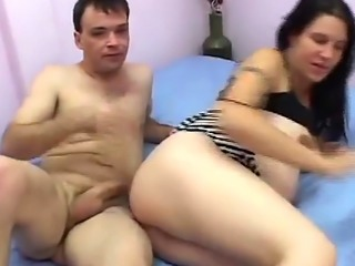 A horny dude licks pregnant woman's pussy before fucks her in vari