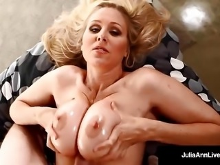 Sensual Milf Julia Ann Gets A Load Of Warm Jizz On Her Tits!