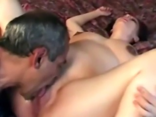 A dirty pregnant housewife gets her pussy licked and fucked hard by ho