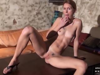 Stunning skinny french brunette sucks n fucks in POV