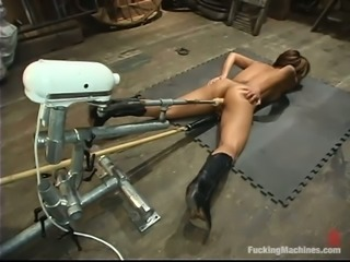 Jasmine Byrne gets unforgettably banged by a fucking machine