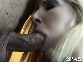 Clit stimulated by toy and bawdy cleft screwed by schlong