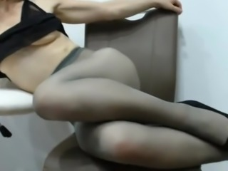 Lady in tights!