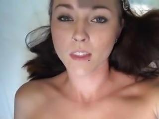 Ashley Stone - Hairy Pussy Creampie POV
