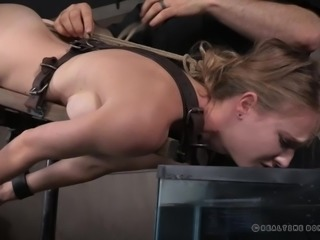 Beautiful babe Ashley feels a mixture of fear and anticipation, as she dives...