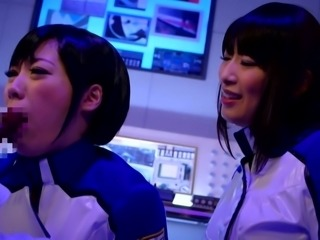 These cosplay cuties want to share a huge cock. The Japanese babes enter the...