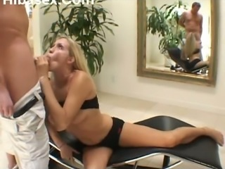 My wife only knows how to give a good blowjob and this blonde is so nasty