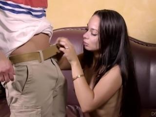deep throat blowjob @ seduced by the boss' wife #09