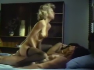 Two sexy and lean cuties share one stud on the bed