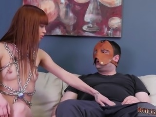 Gagged nude bondage and crazy rough sex Slavemouth Alexa