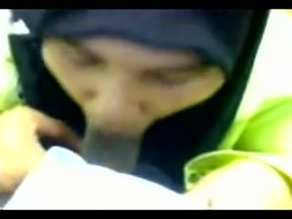 Cute and sexy Arab girl in hijab sucking my dick in POV