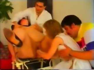 Classic German SSBBW getting fisted hard by a group