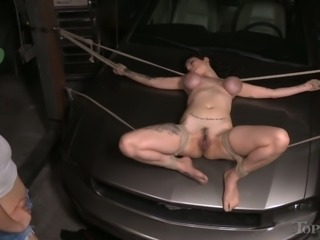 Awesome bondage session with a extremely horny bitch Mona Wales