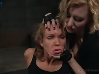 Sexy buxom Rain DeGrey finds out something about breast bondage