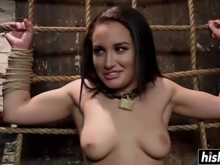 Small tits beauty fucked and tortured