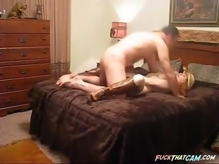 Busty country girl fucks on webcam