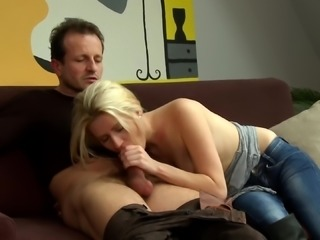 Michaela is a skinny blonde enjoying a nice cock ride