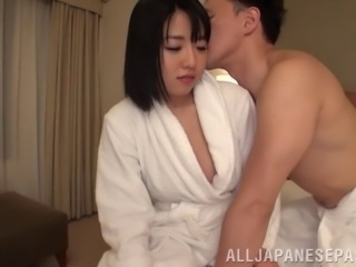 Horny chick with amazing ass and bubbles Asami Seri enjoys rough bang