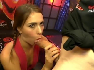 Ria Sunn has a blast while being fucked by a bunch of fellows