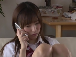 Tying up a hot teen Moe Amatsuka so that she can learn a lesson
