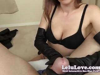 Lelu Love-Leather Gloves Boots Lingerie Handjob