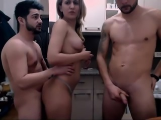 Amateur Threesome With A Busty Milf