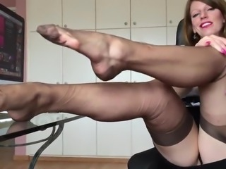 Anett larmann solo in stockings short