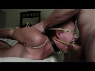 Bondage bdsm fetish sub fucked in mouth