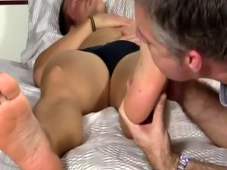 Free movietures of oily hardcore gay sex Sleepy Kenny Gets Foot Worshi