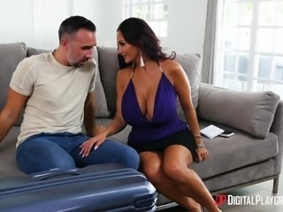 Ava Addams fucks a handsome guy besides a sleeping blonde