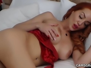 hottest busty gets her cooter wet by masturbating with fingers