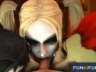 Harley Quinn is getting fucked in the hottest 3D sex compilation ever