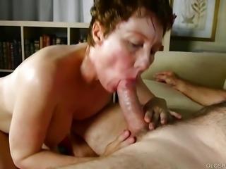 Super sexy old spunker sucks & fucks for a mouthful of cum