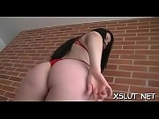 Curved slut smothering wazoo on black dude