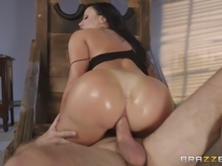 Sybil Stallone is a busty brunette craving a swollen cock
