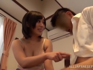 Slutty Asian With Perfect Natural Tits Gets A Big Cumshot In Her Mouth