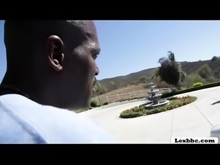 Ebony Harley enjoys riding Lexington cock - Lexbbc.com
