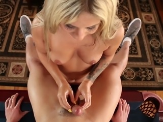 Oily handjob with a hottie with tattooed arms Madelyn Monroe