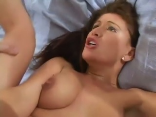 Extremely unforgettable hardcore doggy style pounding of brunette's anus