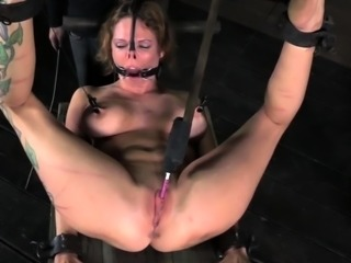 Inked submissive tormented and gagged