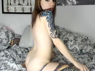 Busty amateur play wet body and masturbates toys on webcam