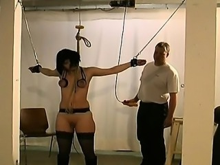 Obedient slut wants breast bondage stimulation on web camera