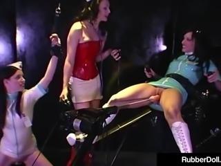Latex Nurses RubberDoll & Anastasia Trained By HN Rubberella