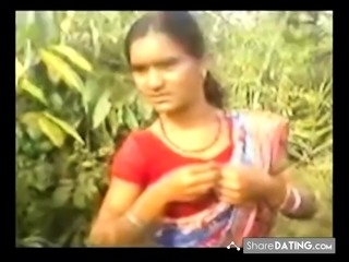 Indian Village Lady With Natural Hairy Pussy Outdoor Sex