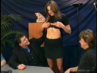 Gangbang action with the slutty Inga in vintage clip