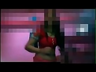 Desi north Indian housewife dances and strip her dress one by one