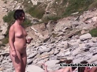 hairy Pussy Trimmed Nudist Milfs Beach Voyeur Spycam Hidden