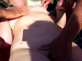 Beach lucky guy