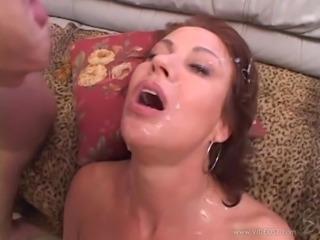 Vanessa Videl is bukkaked after a hardcore gangbang