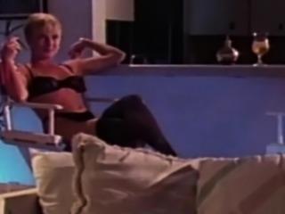 Vintage couple seduces each other into romantic sex